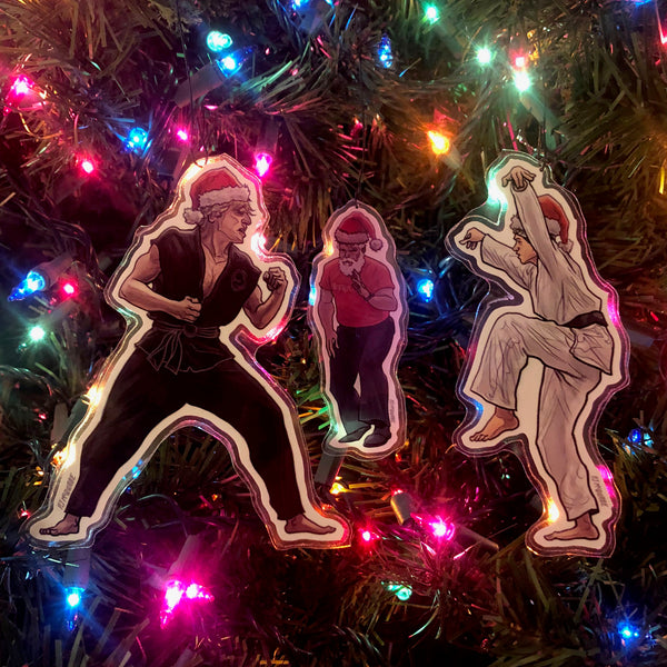 Johnny/Daniel KARATE KID Christmas Ornaments COMBO!