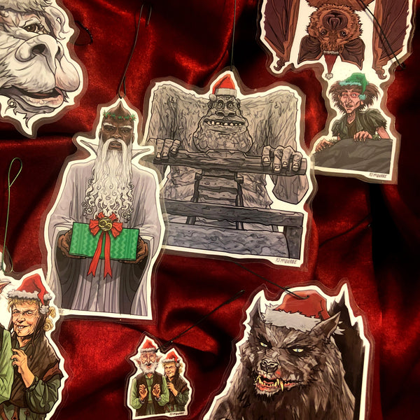 The NeverEnding Story CHRISTMAS ORNAMENTS 7 PACK SET! Free Xmas Card with Every Set