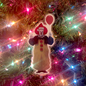 PENNYWISE 1990 IT Christmas ORNAMENT!