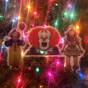 Pennywise CHRISTMAS ORNAMENT 3 Pack!