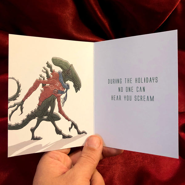 ALIEN CHRISTMAS CARD!