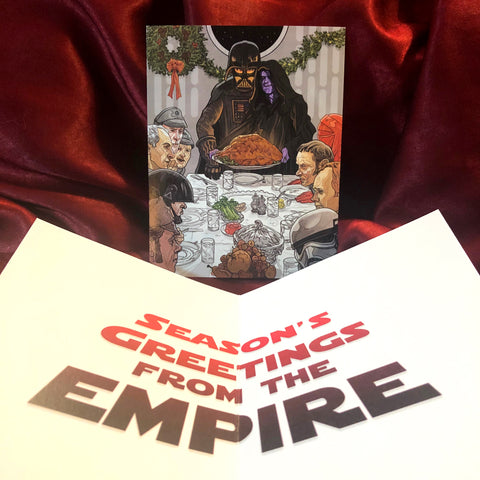 Darth Vader/Emperor STAR WARS Christmas CARD!