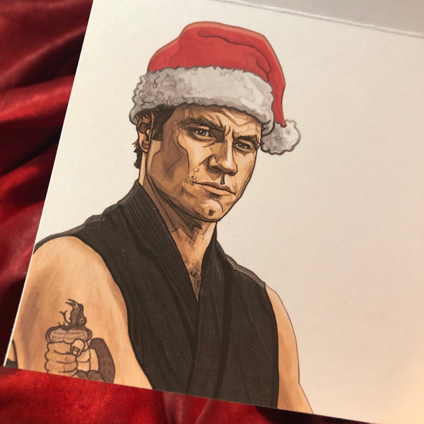 10 PACK KARATE KID Christmas Cards!