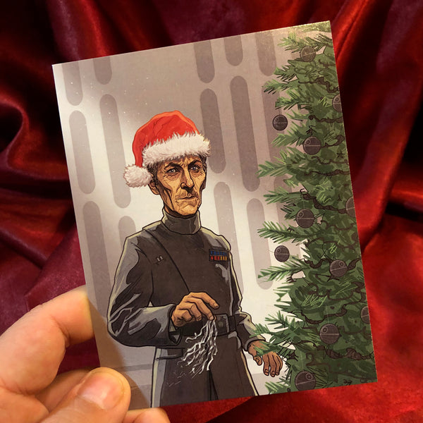 10 PACK Grand Moff Tarkin STAR WARS Christmas Card 10 PACK