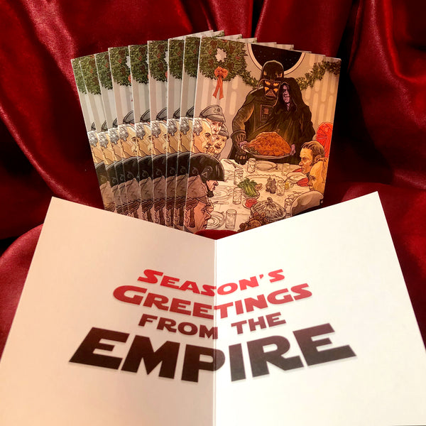 10 PACK Darth Vader/Emperor STAR WARS Christmas Card!