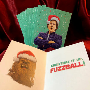 10 PACK Han Solo STAR WARS Christmas Cards!