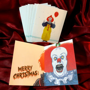 10 PACK Pennywise IT 1990 Christmas CARDS!