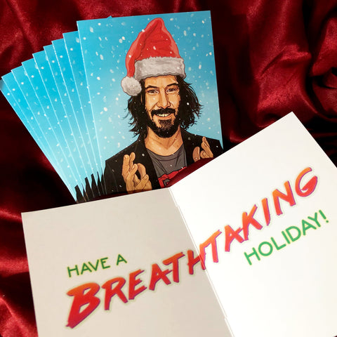 10 PACK Keanu Reeves CHRISTMAS CARDS!