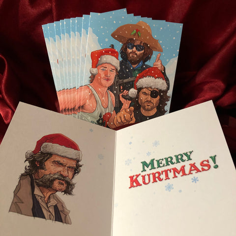 10 PACK Kurt Russell CHRISTMAS CARDS!