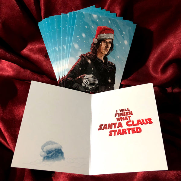 10 PACK Kylo Ren STAR WARS Christmas CARDS!