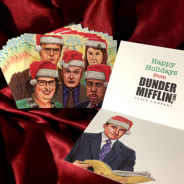 10 PACK The Office CHRISTMAS CARDS!