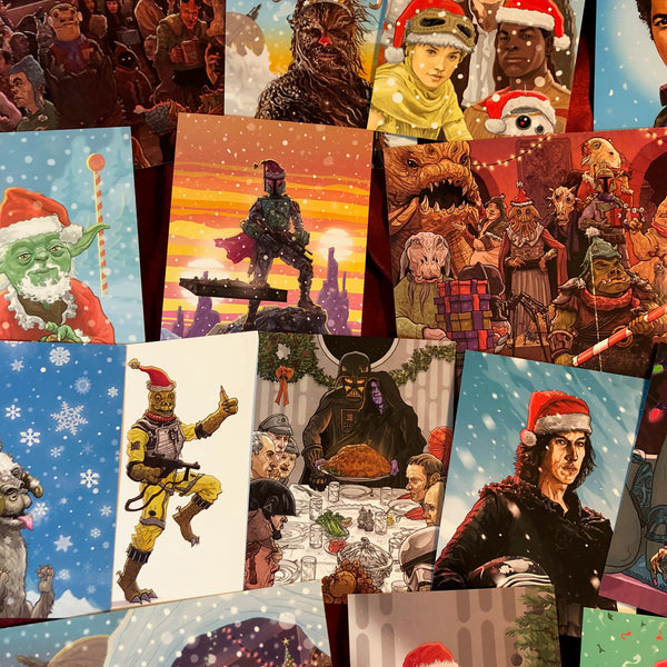 15 Pack STAR WARS CHRISTMAS Card Combo Special!
