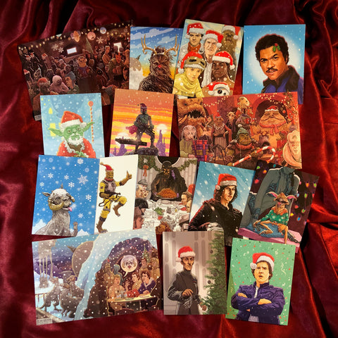 30 Pack STAR WARS Christmas Cards Combo Special