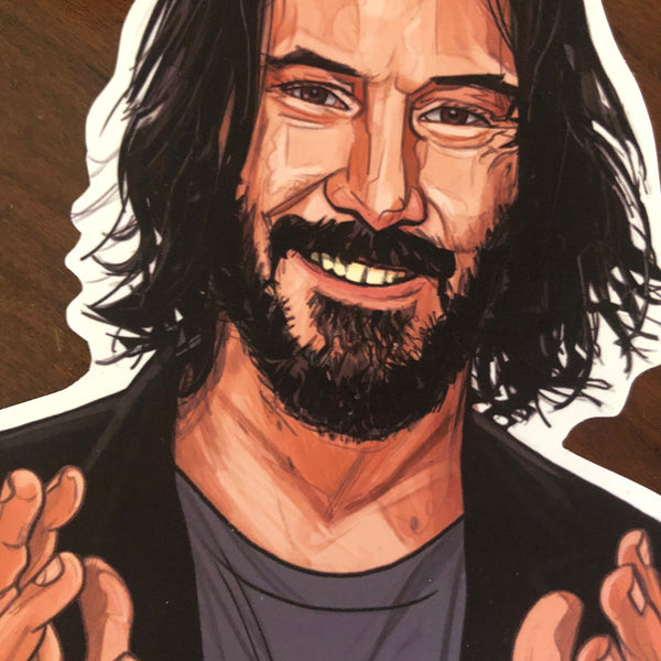 KEANU REEVES Waterproof STICKER!