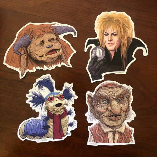 LABYRINTH 4 Pack STICKERS Waterproof!