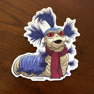William the Worm LABYRINTH Waterproof Sticker!