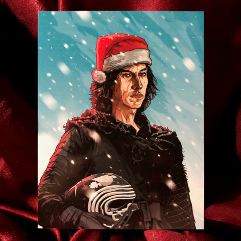 KYLO REN Star Wars Christmas CARD!