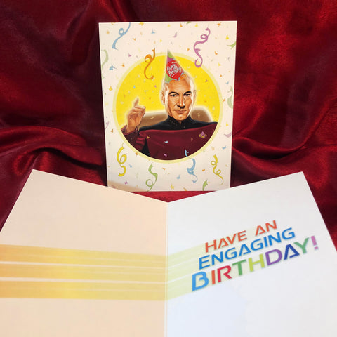 PICARD Star Trek BIRTHDAY CARD!!