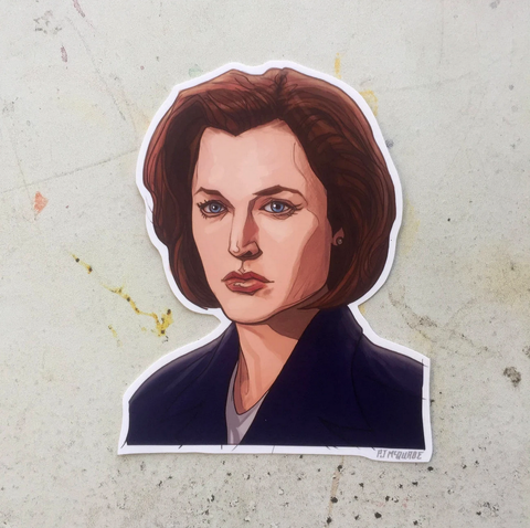 Dane Scully X-FILES STICKER!