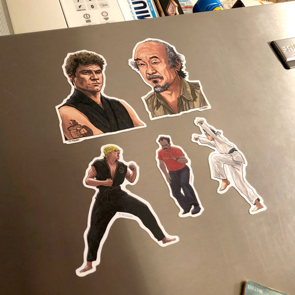 The KARATE KID Fridge Magnets 5 Pack SET!