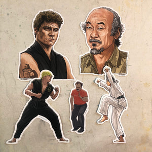 The KARATE KID Waterproof Sticker 5 Pack Combo SET!