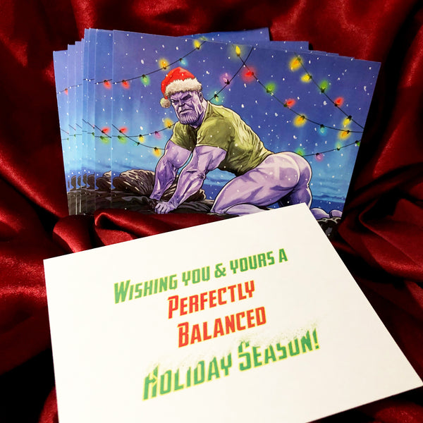 10 PACK - Thicc Thanos CHRISTMAS CARDS!