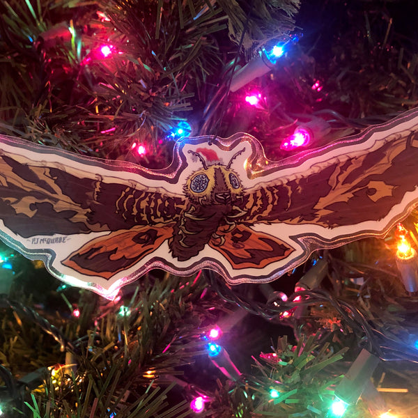 Mothra GODZILLA Christmas Ornament!