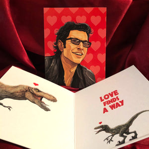 Ian Malcolm JURASSIC PARK Valentine's Day Card