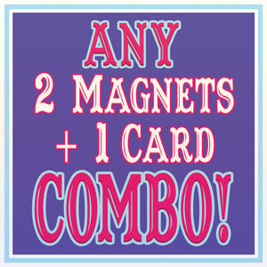 2 MAGNETS/1 CARD Discount COMBO!