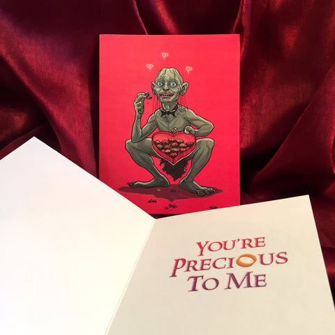 GOLLUM Lord of the Rings VALENTINE'S DAY Card