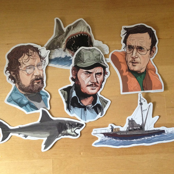 JAWS Fridge Magnet SET!