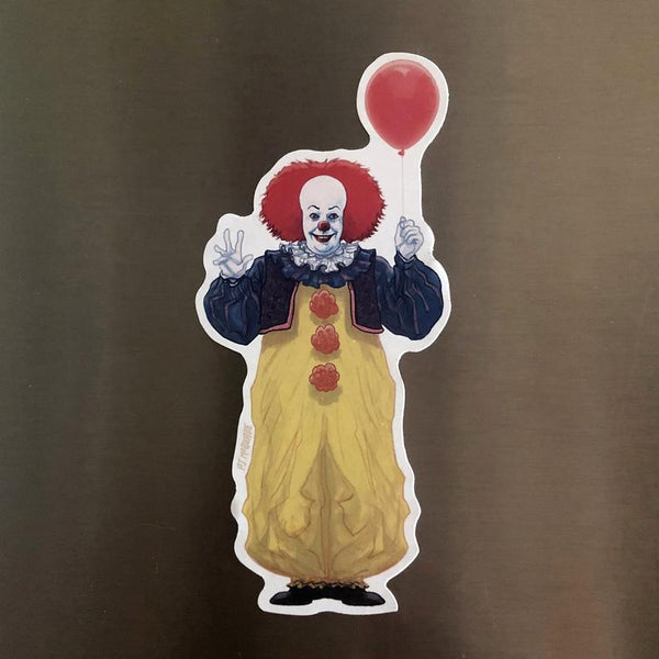 Pennywise Clown IT 1990 FRIDGE MAGNET!