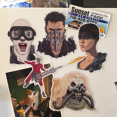 MAD MAX Fury Road Fridge Magnet SET!
