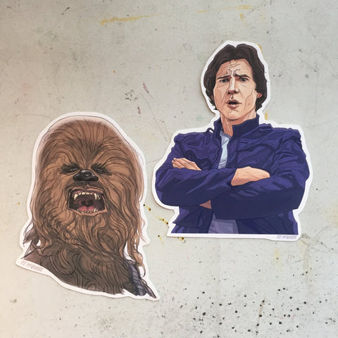 Han/Chewbacca STAR WARS Sticker COMBO!
