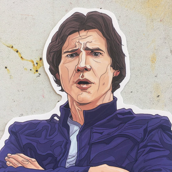 Han Solo STAR WARS STICKER!