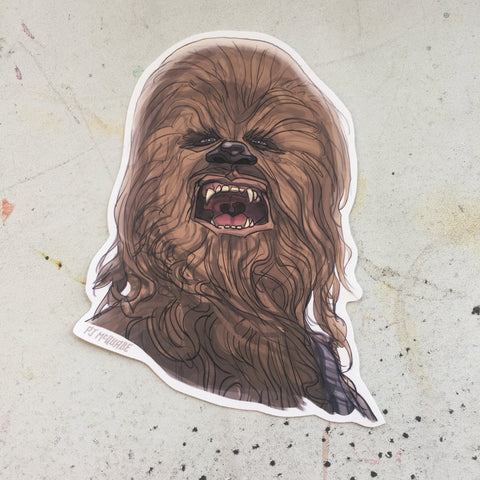 Chewbacca STAR WARS Waterproof STICKER!