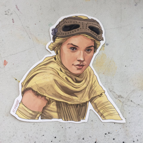 Rey STAR WARS STICKER!