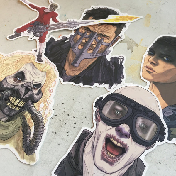 MAD MAX: FURY ROAD Waterproof Sticker SET!
