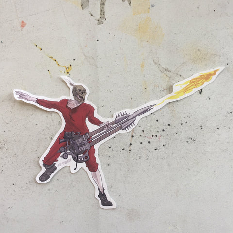 The Doof Warrior MAD MAX: FURY ROAD Sticker!