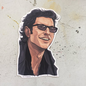 Ian Malcolm JURASSIC PARK Waterproof Sticker