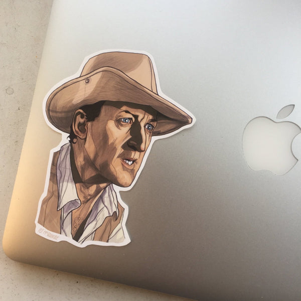 Muldoon JURASSIC PARK STICKER!