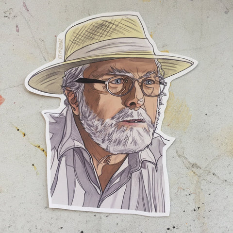 John Hammond JURASSIC PARK Waterproof STICKER!