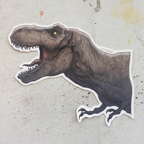 Trex JURASSIC PARK Waterproof Sticker