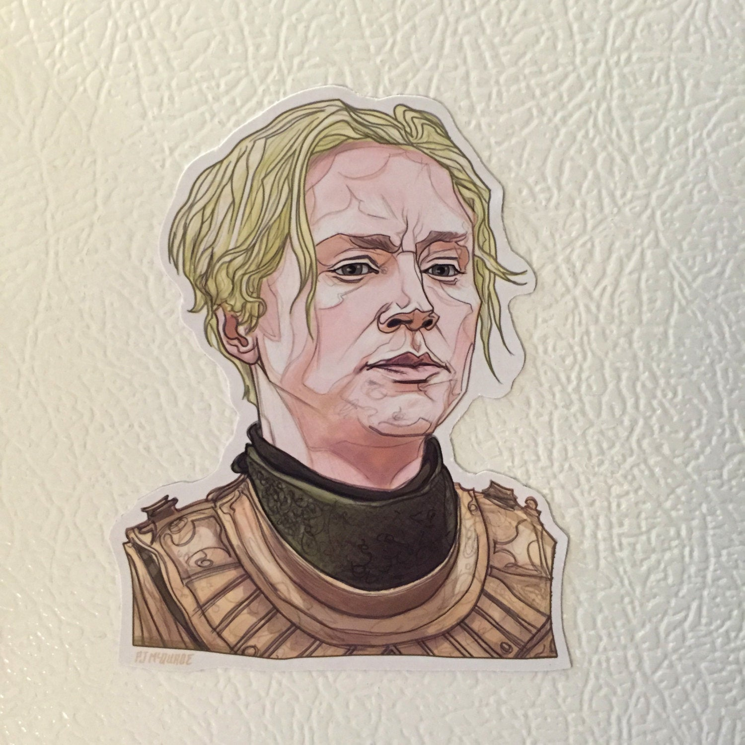 Brienne GAME of THRONES FRIDGE MAGNET!
