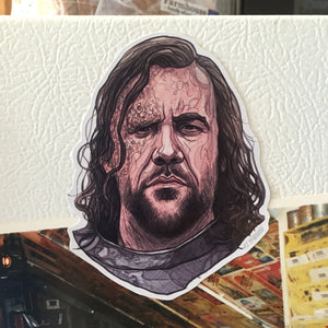 The Hound GAME of THRONES Fridge MAGNET!