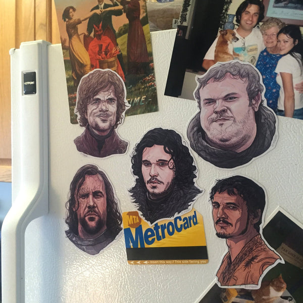 Any 5 GAME of THRONES Fridge Magnets COMBO!