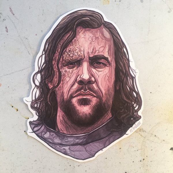 The Hound GAME of THRONES STICKER!