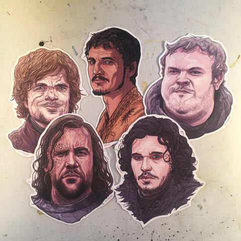 GAME of THRONES 5 Sticker Pack COMBO!