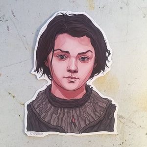 ARYA Game of Thrones STICKER!