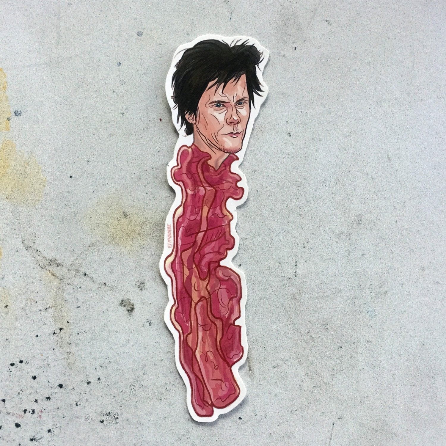 KEVIN Bacon BACON Waterproof STICKER!